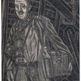 Schiethouwer 1990. Tekening van H. van den Brink