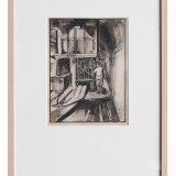 Jos. Postmes, Ondergrondse laadplaats Oranje-Nassau Mijnen. Jos. Postmes, inkt met aquarel op papier. Deze versie werd niet in het propagandaboek opgenomen. (Collectie Continium 065214)