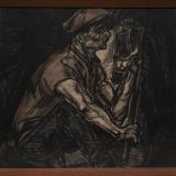 Jan Toorop, De Mijnwerker. Litho 1915