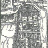 Georgius Agricola De Re Metallica (Houtsnede/ pompen waterkracht)