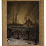 Olieverfschilderij van bovengronds mijnbedrijf, Aart de Neeff