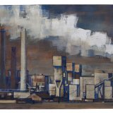 Olieverfschilderij 'Factory', Jan Laeven