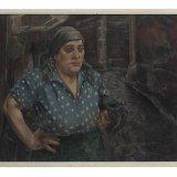 Olieverfschilderij 'Werk gedaan, kolenmijnen', Harmen Meurs