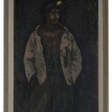 Olieverfschilderij van een staande jonge mijnwerker, Harry Koolen