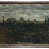 Olieverfschilderij van het bovengronds mijnbedrijf van Staatsmijn Hendrik, Royakkers