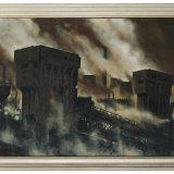 Olieverfschilderij van de bovengrondse gebouwen van Staatsmijn Maurits, Toon Koster