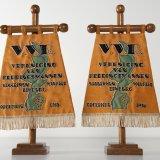Vaandel van de Vereniging van Reddingsmannen (V.V.R.) Staatsmijn Maurits