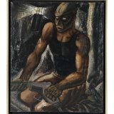 olieverfschilderij 'De mijnwerker', Charles Eyck