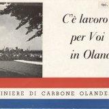 Italiaanstalige wervingsbrochure voor Nederlandse mijnen, 1956