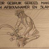 Instructietekening 'Voor gebruik gereedmaken van afbouwhamer en slang'