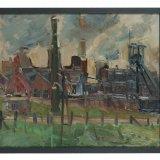 Olieverfschilderij 'Oranje Nassau mijn I te Heerlen', Guillaume Serpenti