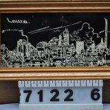 Wandbord in houten lijst, mijn Laura