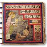 Vlag van de Sloveense Sint-Barbaravereniging Brunssum (1926)