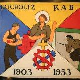 Vlag  van de Katholieke Arbeidersbeweging, afdeling Bocholtz (1953) (Collectie Continium Kerkrade)