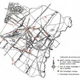Kaart van het gebombardeerde gebied