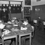 Mijnpolitie neemt verkeersexamen af op school