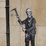 Mining Heroes met QR code in het centrum van Heerlen