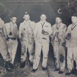 Mijnwerkers ondergronds in de mijn Willen-Sophia