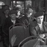 Mijnwerkers in autobus
