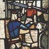 Glas-in-loodraam 'Ons Limburg', Detail het bouwen