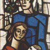 Glas-in-loodraam 'Ons Limburg', Detail het gezin