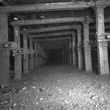 Pijler ondergronds Staatsmijn Wilhelmina