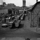Oude werkplaatsen op het Stikstofbindingsbedrijf