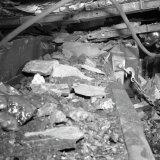 Storing in mechanische pijler ondergronds op de Staatsmijn Hendrik