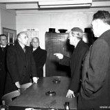 Bezoek van Mr. Dr. Houben aan Schacht 4 van de Staatsmijn Emma te Schinnen
