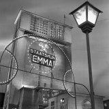 Verlichte Schacht van Staatsmijn Emma ter gelegenheid van het 50 jarig jubileum van de Staatsmijnen