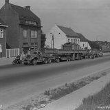 Transformatoren transport van station Geleen naar de Oranje Nassau Mijn I Heerlen
