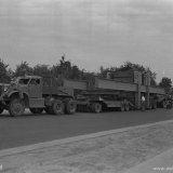 Transport van transformatoren van Station Geleen naar de Oranje Nassau Mijn 1 in Heerlen