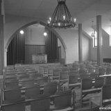 Binnenopname van de Baptisten Kerk te Treebeek