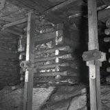 Afvoerband galerij laag B - Afdeling J2 noord - Hoofdsteengang op de 660 meter verdieping van de Staatsmijn Maurits