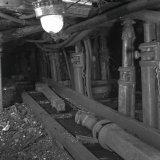 Stijlen transport ondergronds op de Staatsmijn Maurits