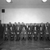 Zittende vergadering van de Mijnindustrieraad (MIR) in 1954