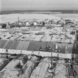 Tent waarin beton gestort wordt op het terrein van de Staatsmijn Beatrix