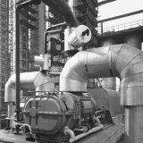 Schroefcompressor bij het Compressorengebouw op de Cokesfabriek Emma