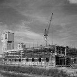 Badlokaal  Schacht 4 te Schinnen in aanbouw