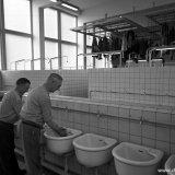 Badlokaal voor bovengrondse arbeiders op de Staatsmijn Wilhelmina