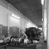 Aluminium plafond in Machinegebouw op de Staatsmijn Maurits