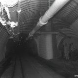 Hoekpunt op de 730 meter verdieping i.v.m. nieuw soort ondersteuning in steengang Staatsmijn Hendrik