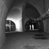 Hoekpunt op de 855 meter verdieping van de Staatsmijn Hendrik