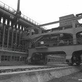 Drukken van eerste Cokesoven batterij E op de Cokesfabriek Maurits
