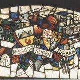 Glas-in-loodraam 'Ons Limburg', Detail wapens en lijfspreuk