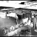 Perslucht locomotief ondergronds vervoer Staatsmijn Wilhelmina