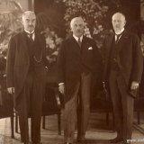 Directie Staatsmijnen, v.l.n.r. de heren Van Iterson, Frowein en Bunge