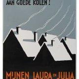 Reclamebord mijnen Laura en Julia