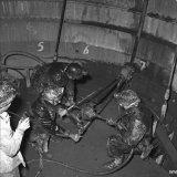 Werkzaamheden in de Schacht van de Staatsmijn Beatrix