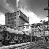 Ureum express. Speciale trein voor verzending van kunstmest op het Stikstofbindingsbedrijf